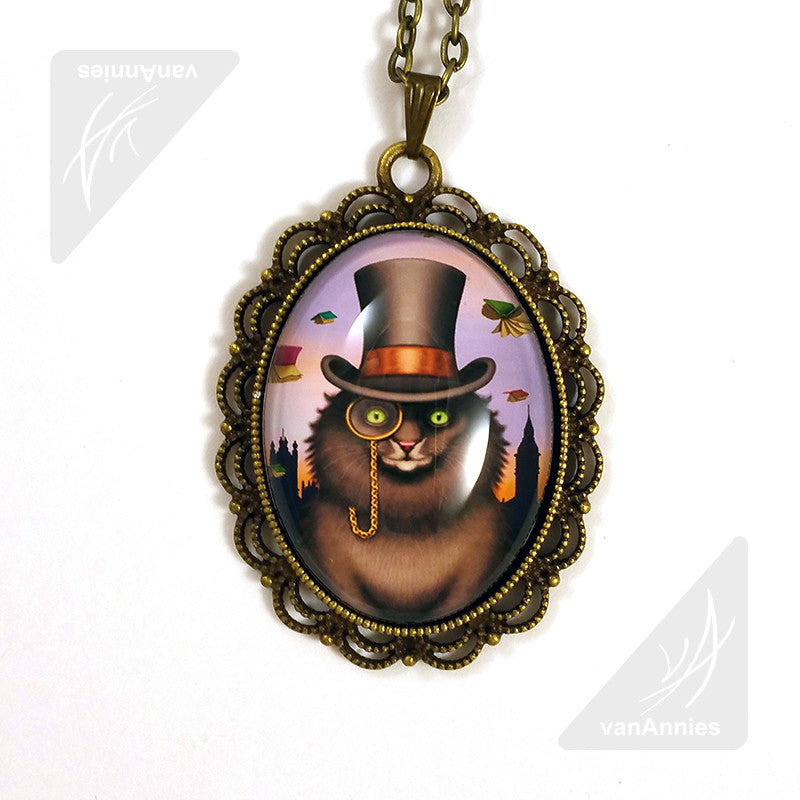 Mycroft the Victorian Cat Necklace
