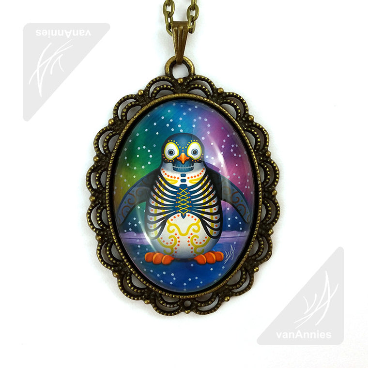 Noche del Pinguino Day of the Dead Necklace