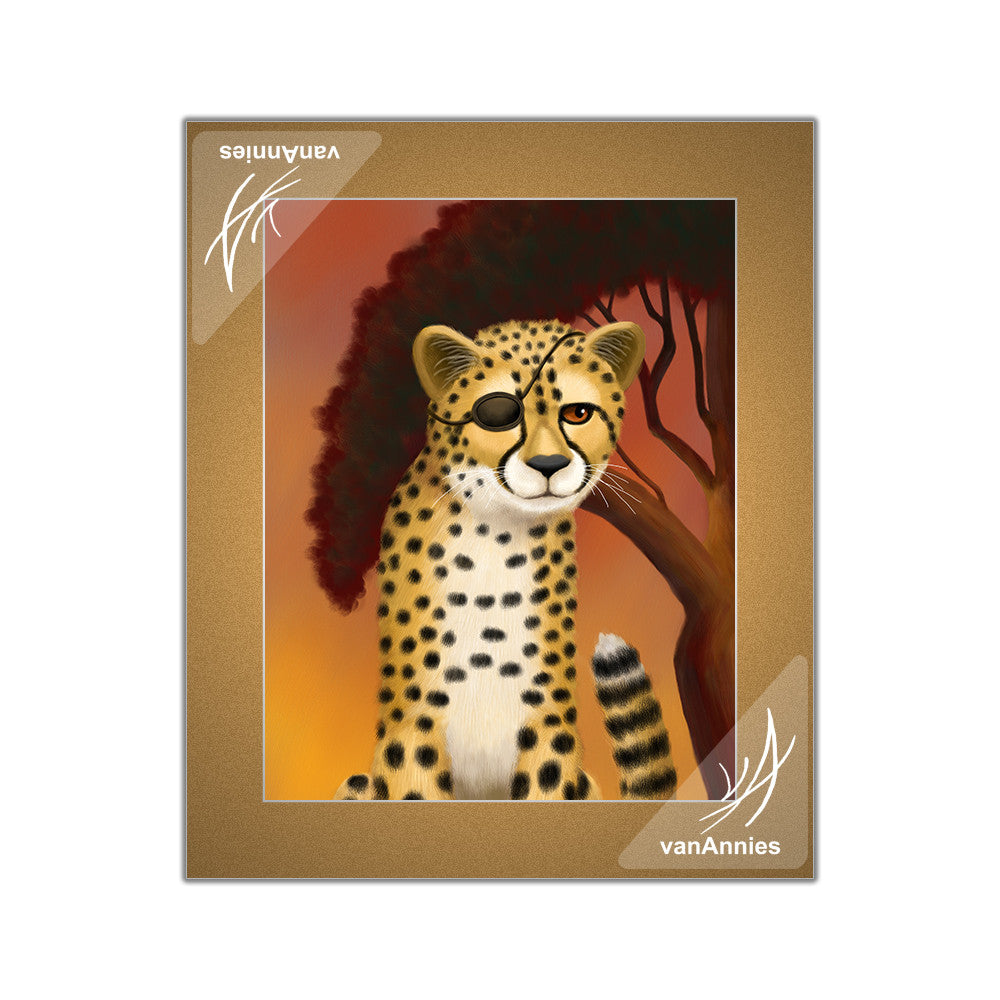 Peace Cheetahs Matted Art Print Set
