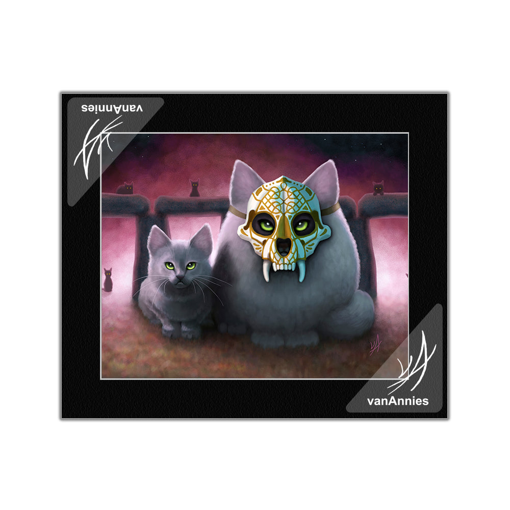 Ancestor (Sugar Skull Cat) Matted Print