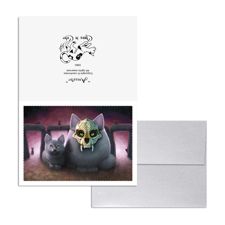 Ancestor (Sugar Skull Cat) 5x7 Art Card Print