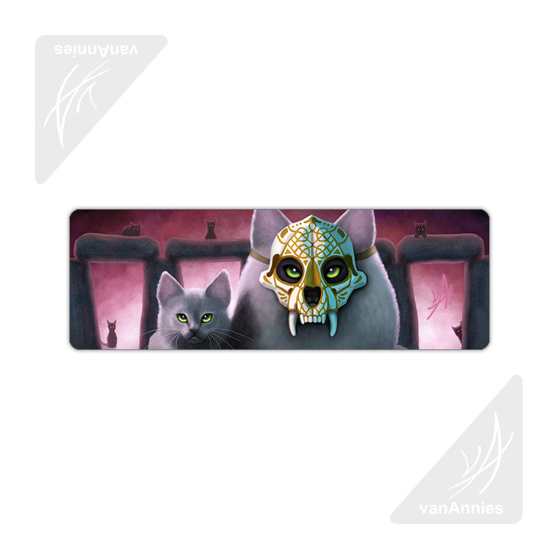 Ancestor (Sugar Skull Cat) Metal Bookmark