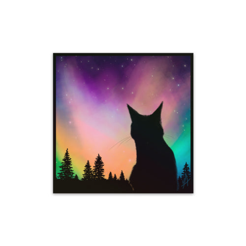 Cat Aurora Sticker (Reflective)