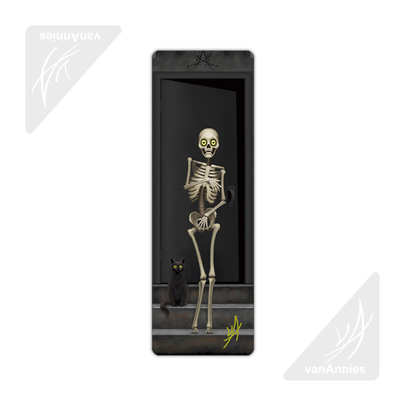 Bare Bones (Skeleton with Cats) Metal Bookmark