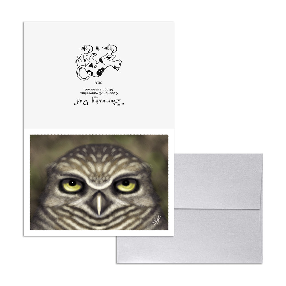 Burrowing Owl 5x7 Art Card Print