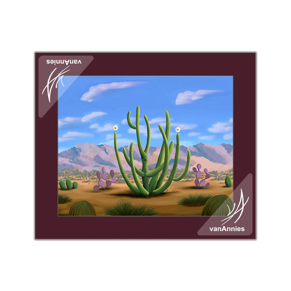 Cacteye (Alien Cactus with Eyes) Matted Print