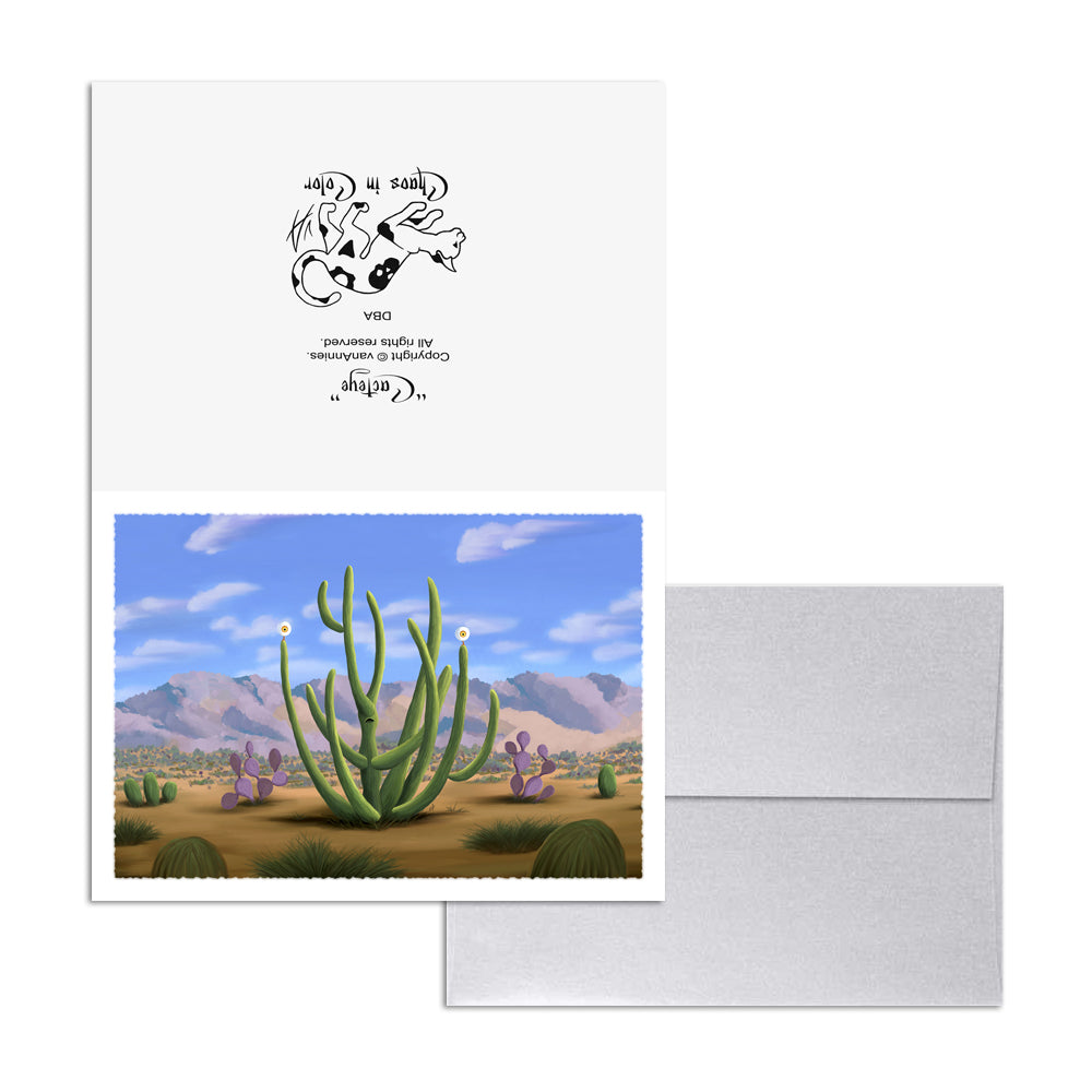 Cacteye (Cactus with Eyeballs) 5x7 Art Card Print