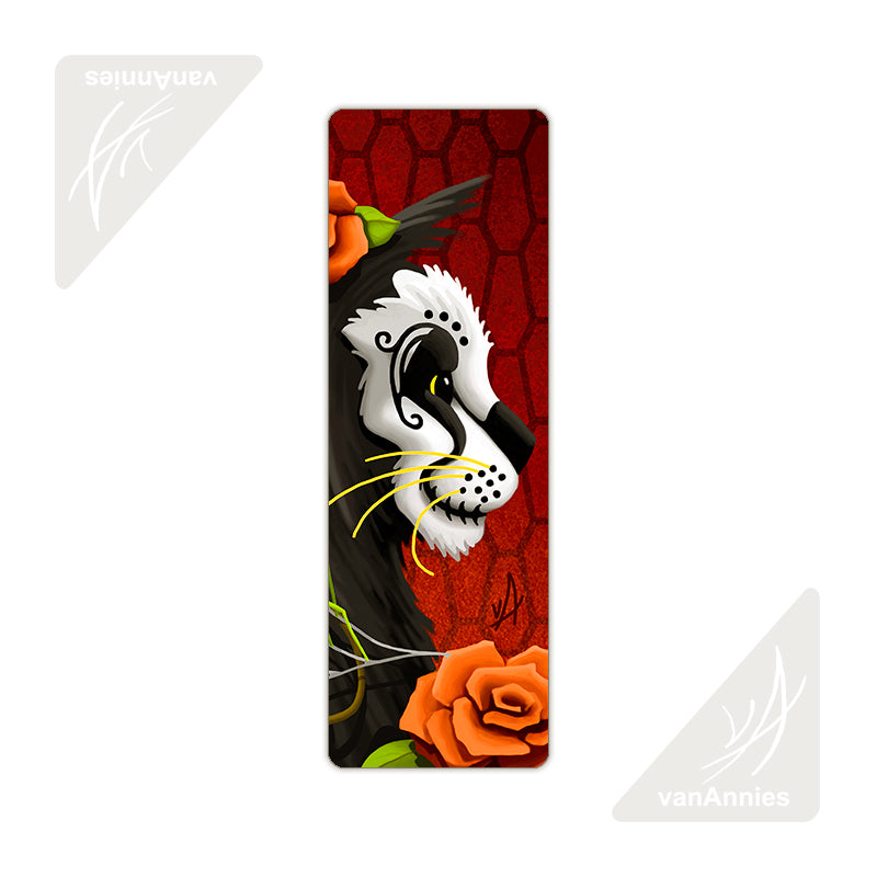 Catacomb (Dia de los Muertos Cat with Spider) Metal Bookmark
