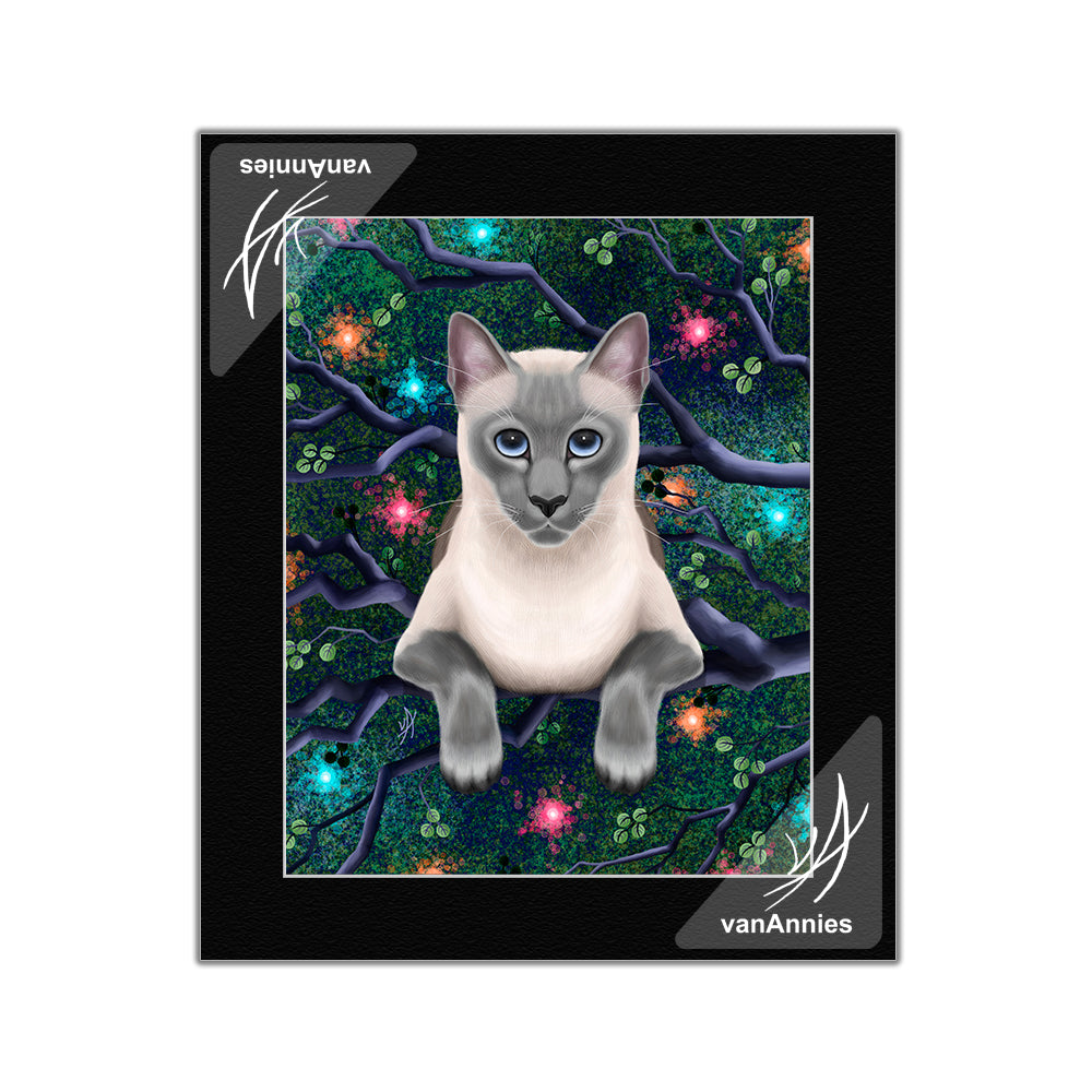 Chaos Magic Siamese Cat Matted Print
