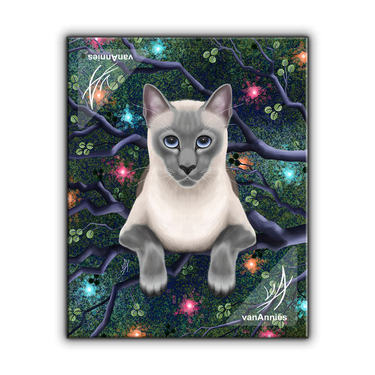 Chaos Magic Siamese Cat Wrapped Canvas Print