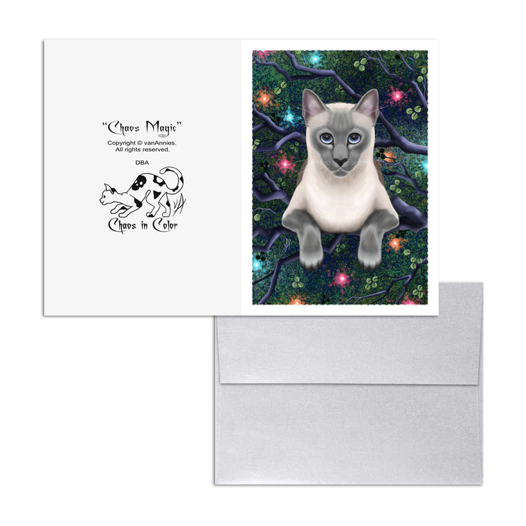 Chaos Magic (Siamese Cat) 5x7 Art Card Print