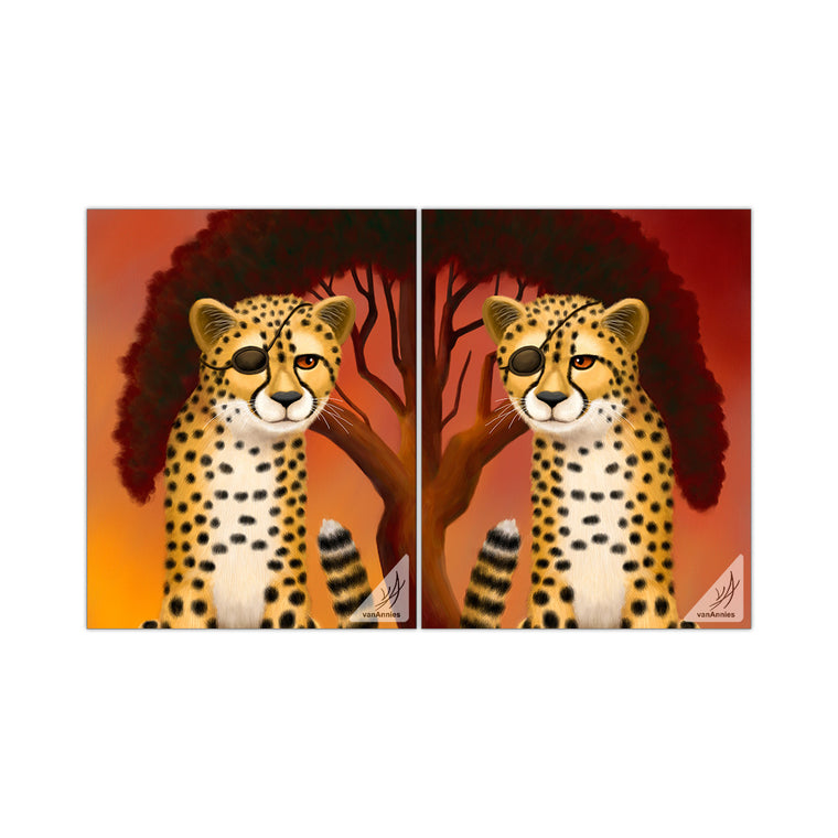 Cheetah Twins 11x14 Glossy Print Set