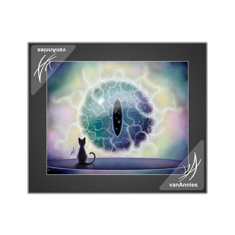Cosmos Cat's Eye Matted Print