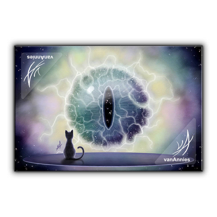 Cosmos Cat's Eye Wrapped Canvas Print