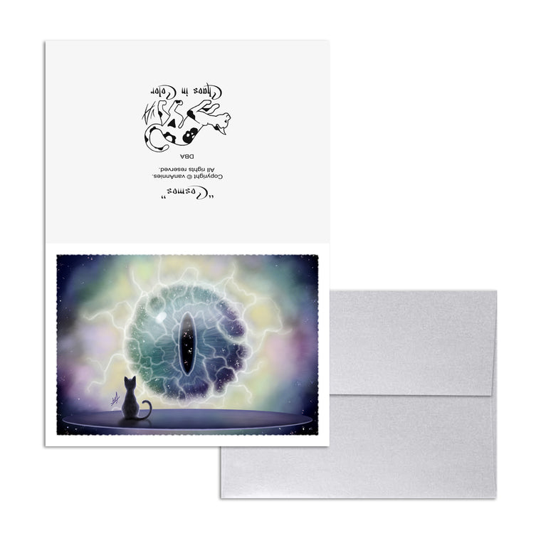 Cosmos (Cats Eye Nebula) 5x7 Art Card Print