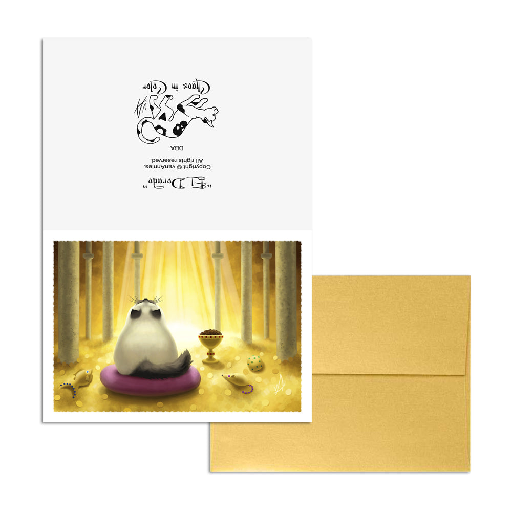 El Dorado (Siamese Cat with Golden Hoard) 5x7 Art Card Print