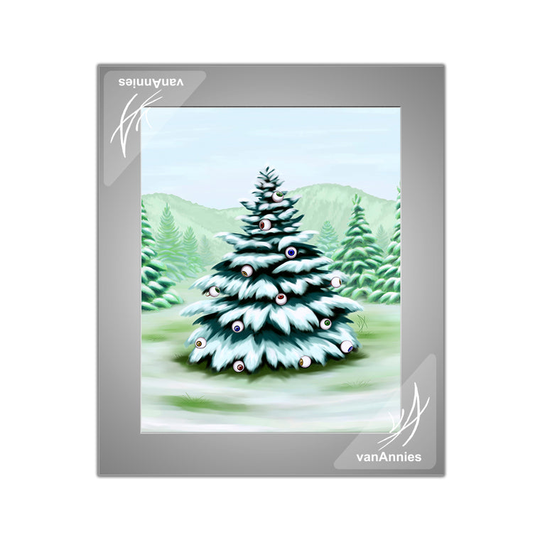 Eyeball Spruce Tree Matted Print