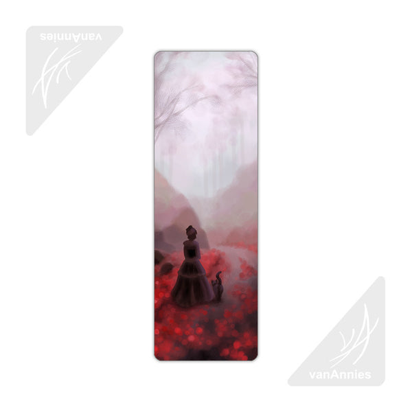 February Fog (Victorian Woman and Cat) Metal Bookmark