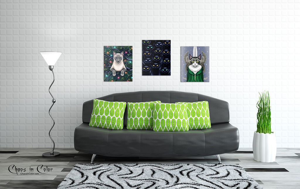 Chaos Magic Siamese Cat Wrapped Canvas Print - Chaos in Color - 2