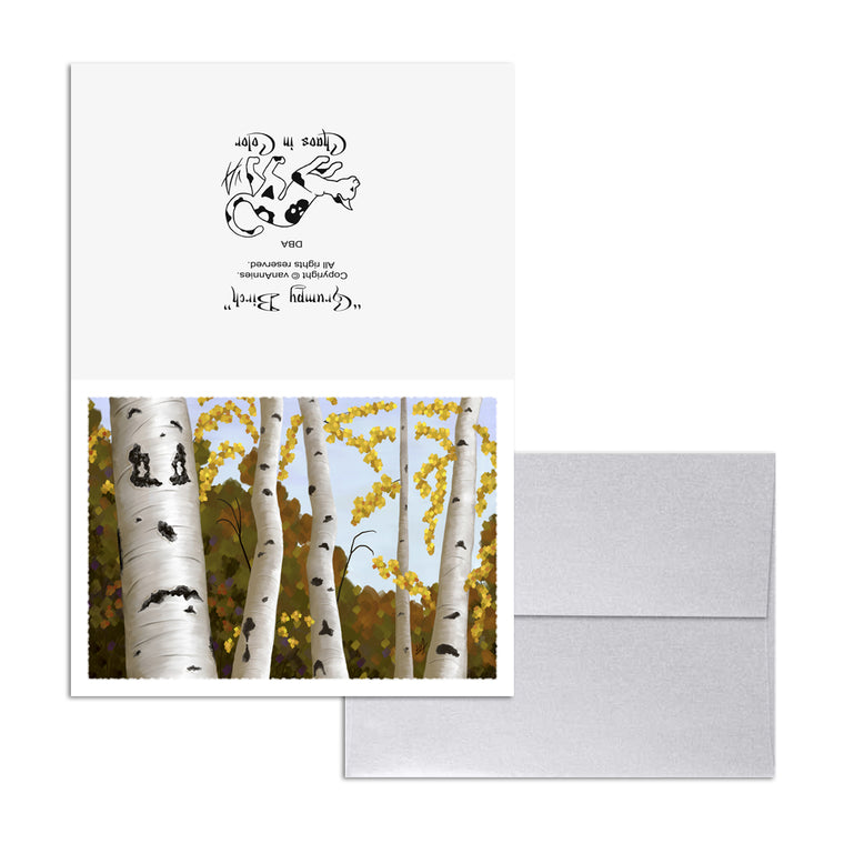 Grumpy Birch 5x7 Art Card Print