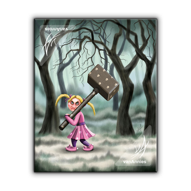 Hammer Girl Wrapped Canvas Print