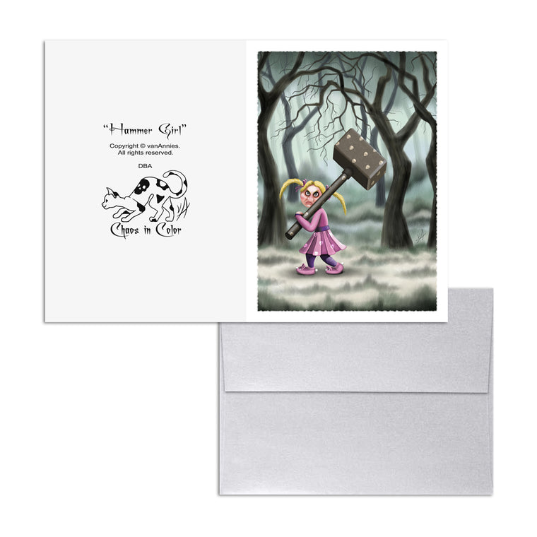 Hammer Girl 5x7 Art Card Print
