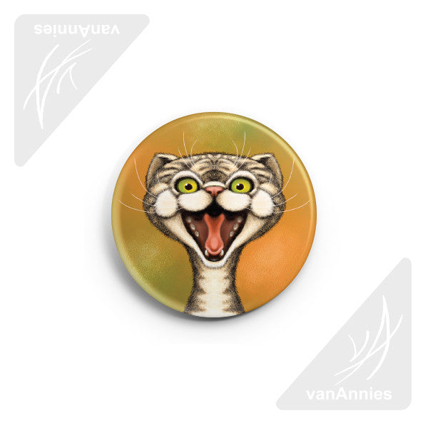 "Happy Cat 2.25"" Pin-back Button"
