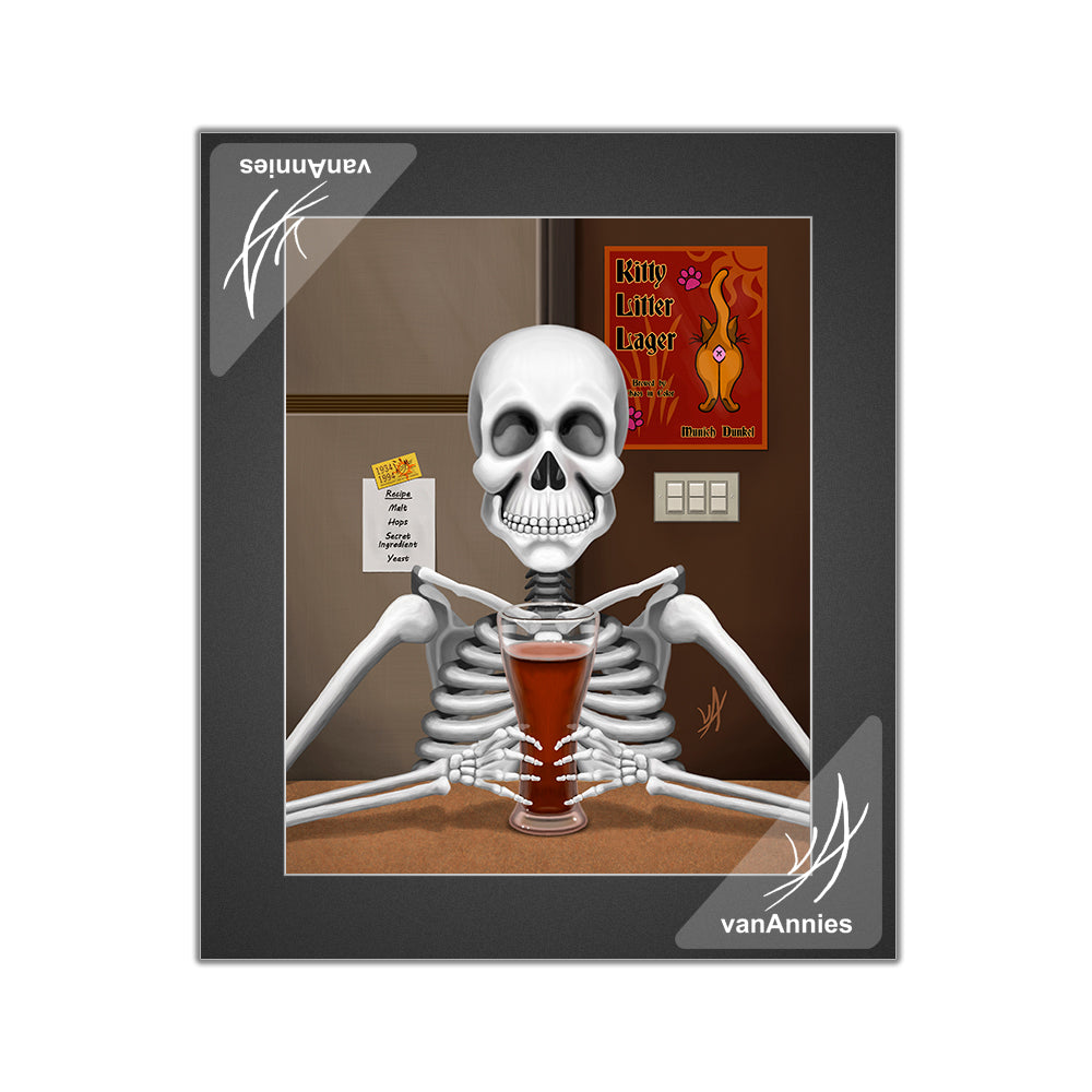 Happy Homebrewer Matted Print
