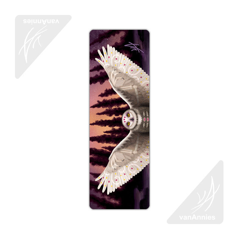 Harbinger (Snowy Owl Wraith) Metal Bookmark