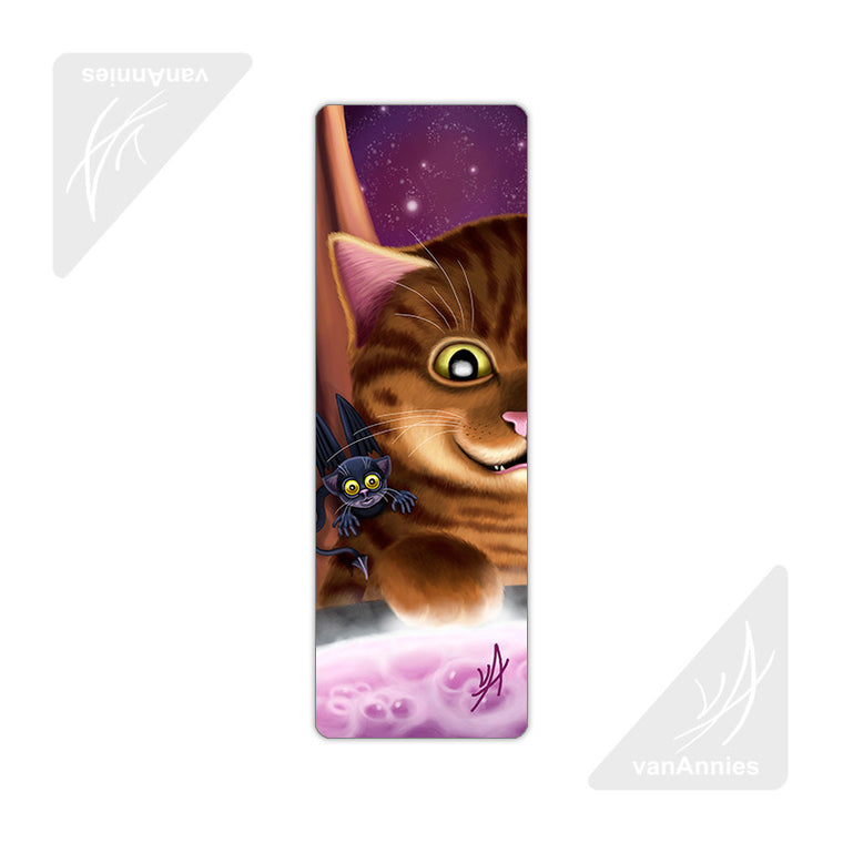 Hocus Pocus (Magic Winged Cat) Metal Bookmark