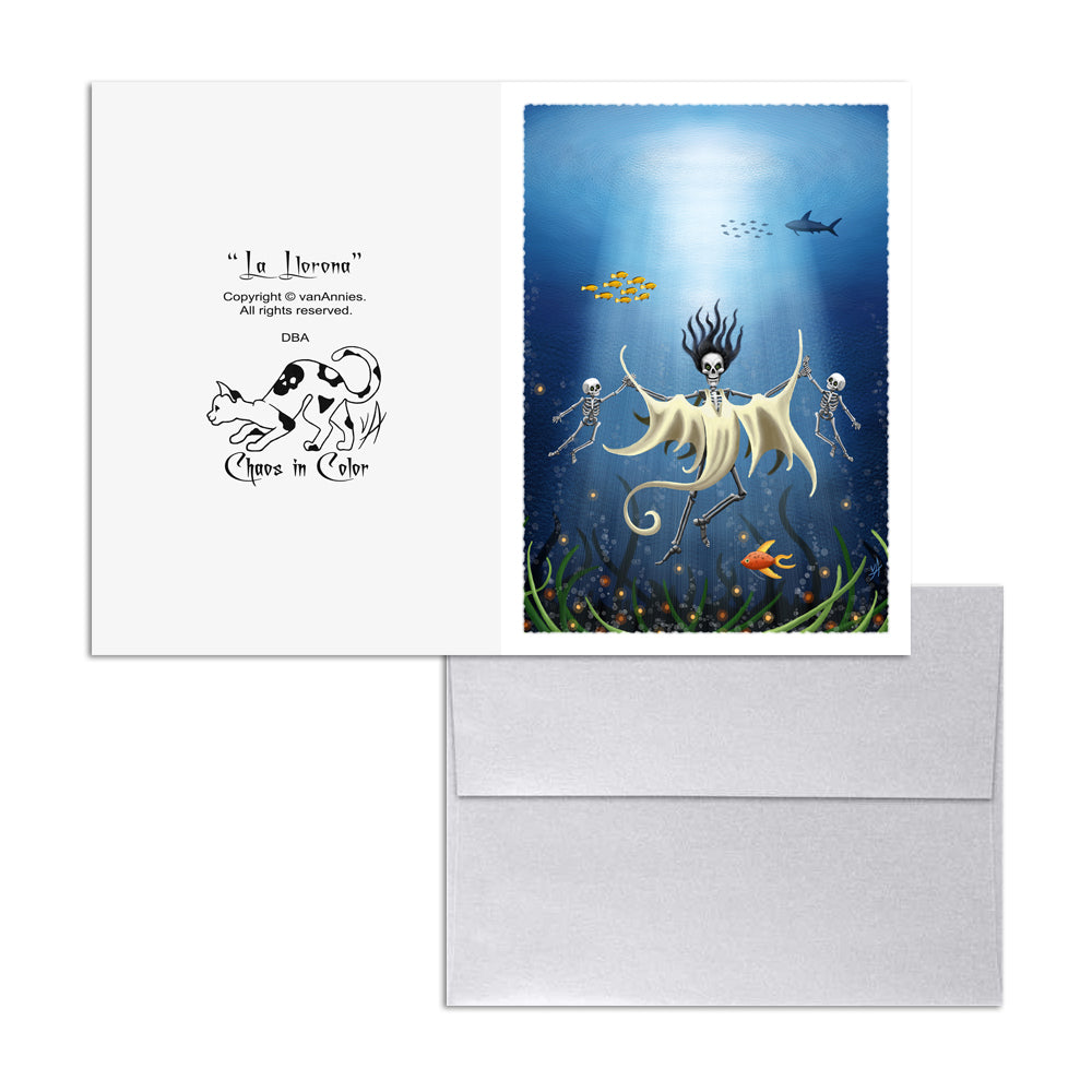 La Llorona (The Wailing Woman) 5x7 Art Card Print