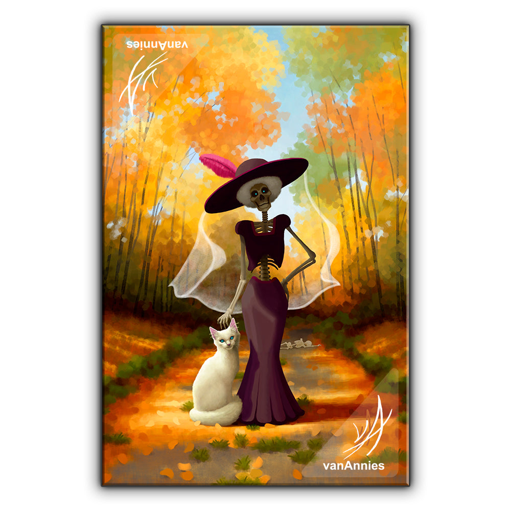 La Muerte's Cat Wrapped Canvas Print