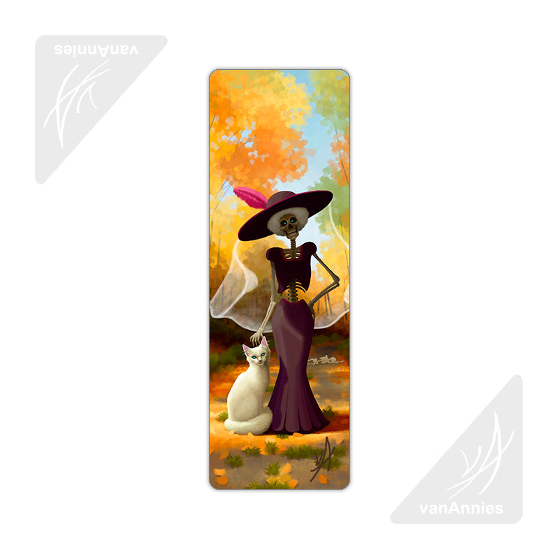 La Muerte's Cat Metal Bookmark
