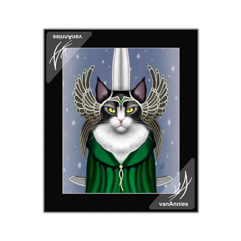 Lady Sif the Warrior Cat Goddess Matted Print