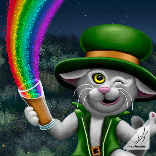 Irish Leprecat Wrapped Canvas Print