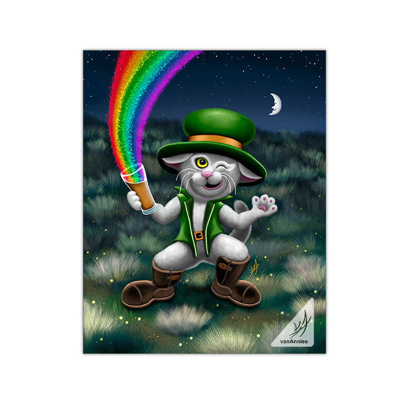 Irish Leprecat 11x14 Glossy Print