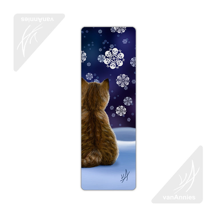 Let It Snow (Kitten with Skull Snowflakes) Metal Bookmark