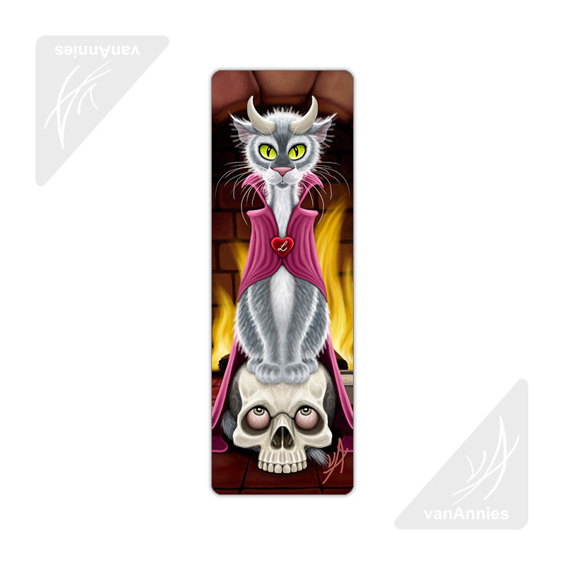 Lucipurr Cat with Horns Metal Bookmark