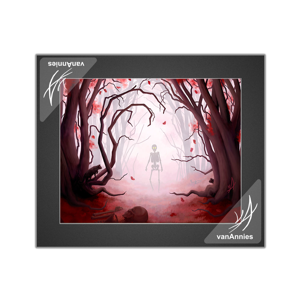 Mirkwood (Spooky Red Forest) Matted Print