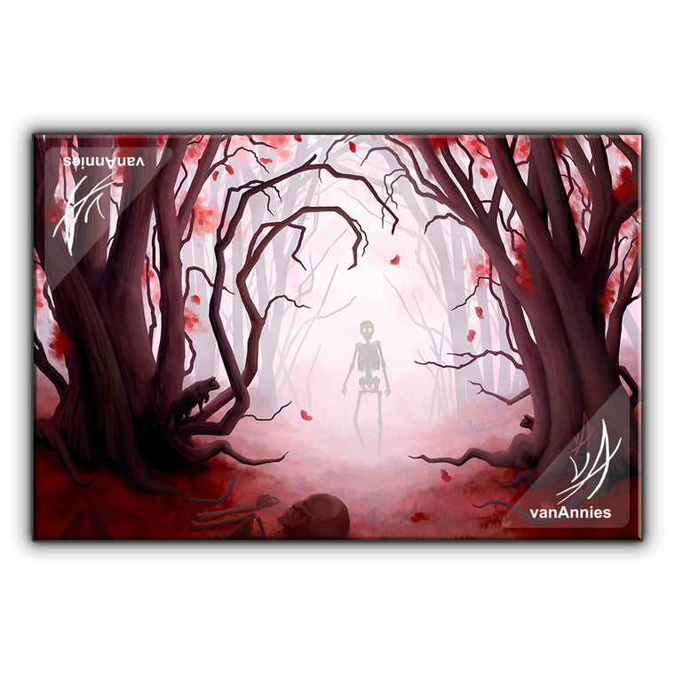 Mirkwood (Spooky Red Forest) Wrapped Canvas Print