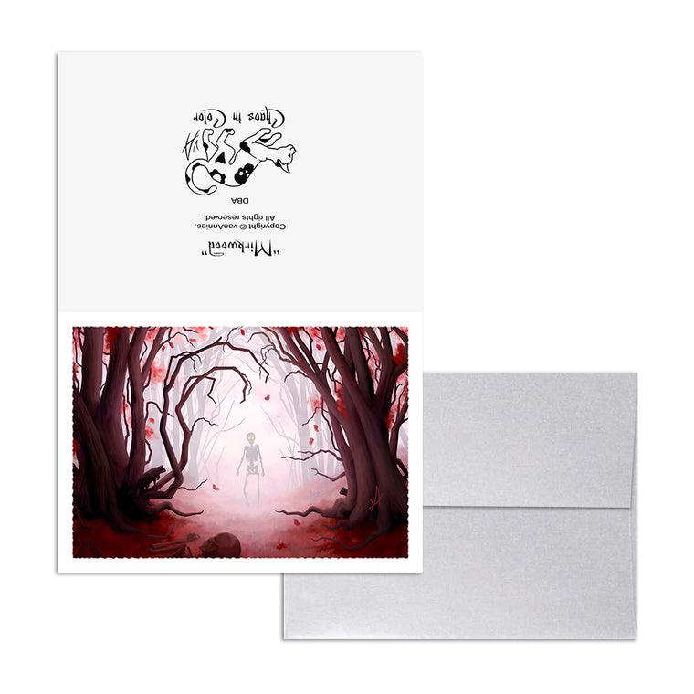 Mirkwood (Spooky Red Forest) 5x7 Art Card Print