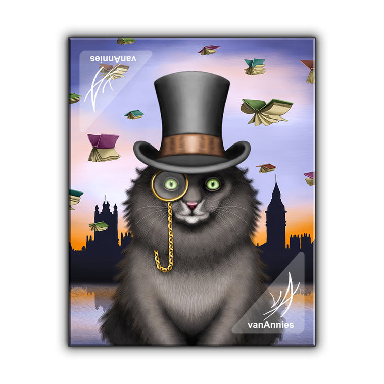 Mycroft the Victorian Cat Wrapped Canvas Print