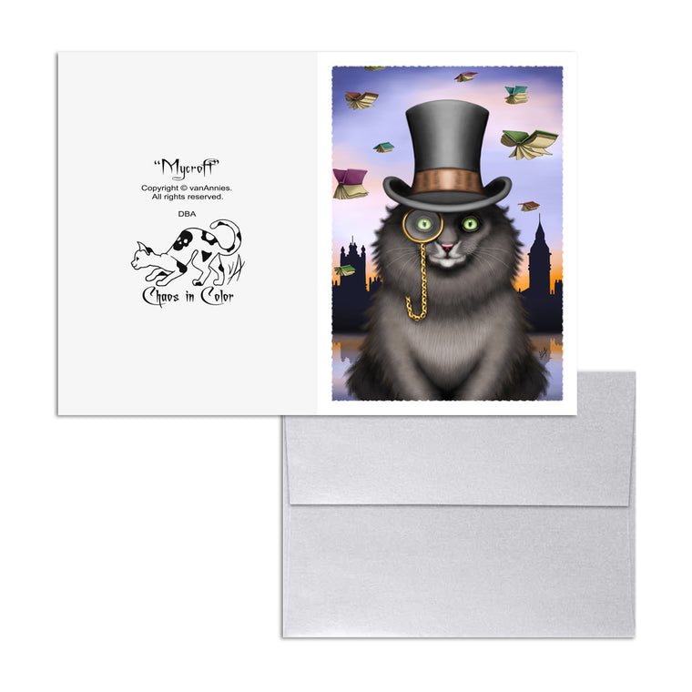Mycroft the Victorian Cat 5x7 Art Card Print