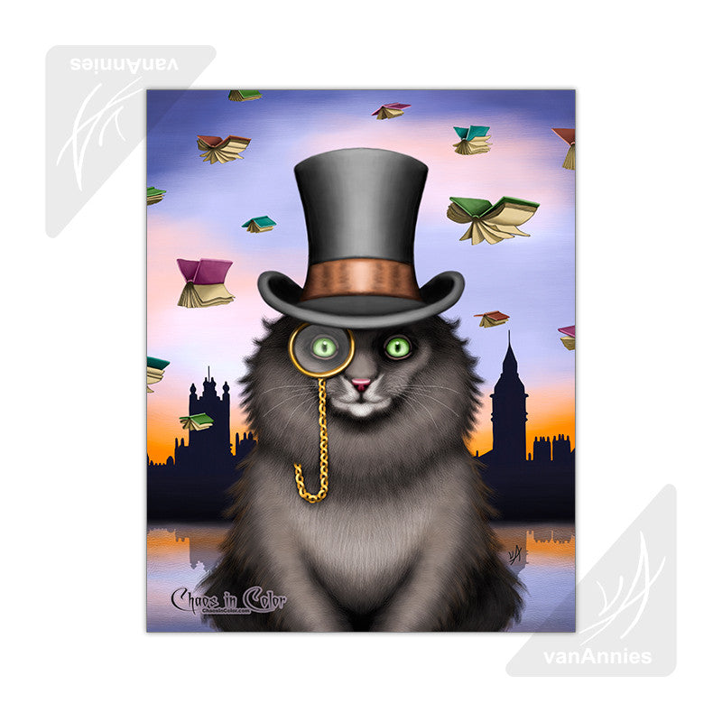 Mycroft the Victorian Cat 11x14 Poster