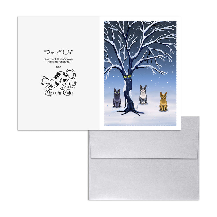 One of Us (Tree with Eyes) 5x7 Art Card Print