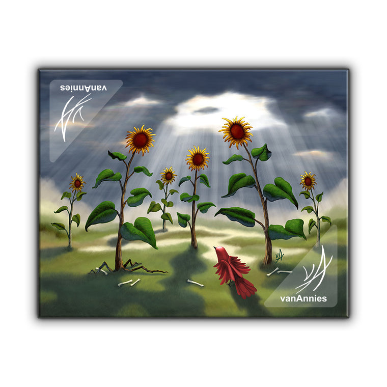 Outnumbered Revenge of the Sunflowers Wrapped Canvas Print