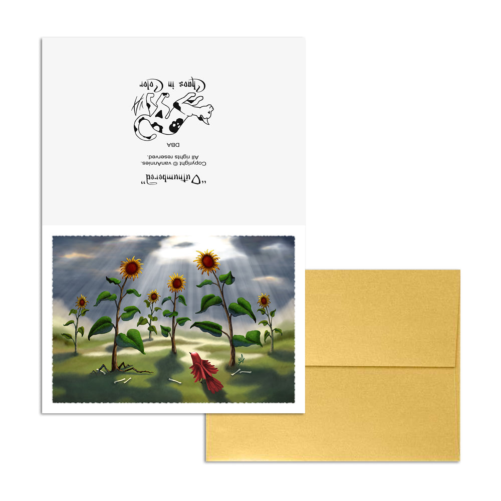 Outnumbered (Revenge of the Sunflowers) 5x7 Art Card Print