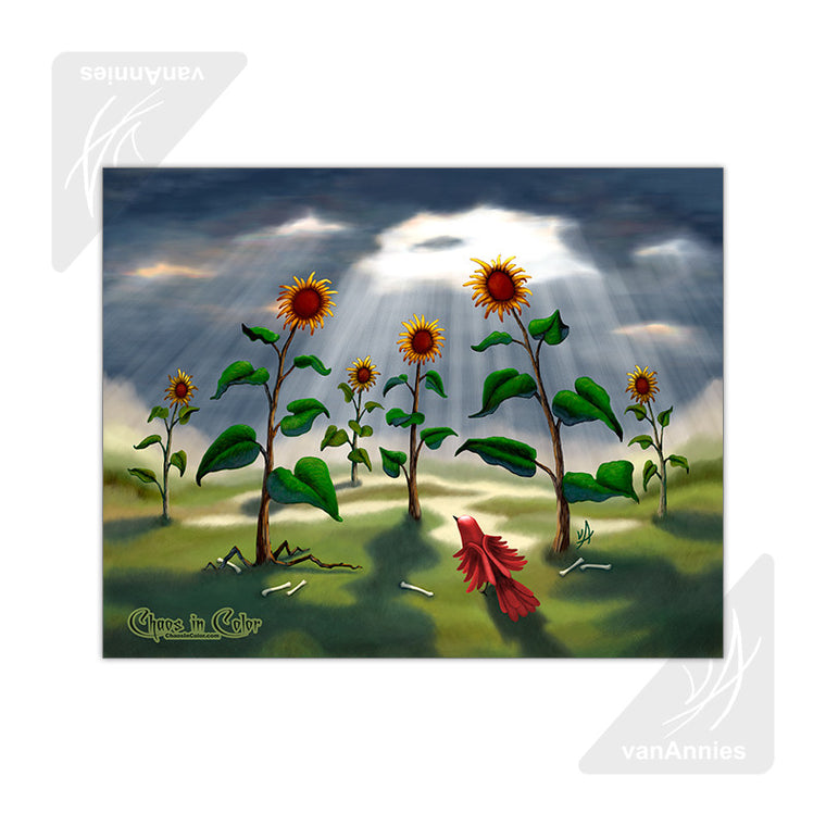 Outnumbered (Revenge of the Sunflowers) 11x14 Glossy Print
