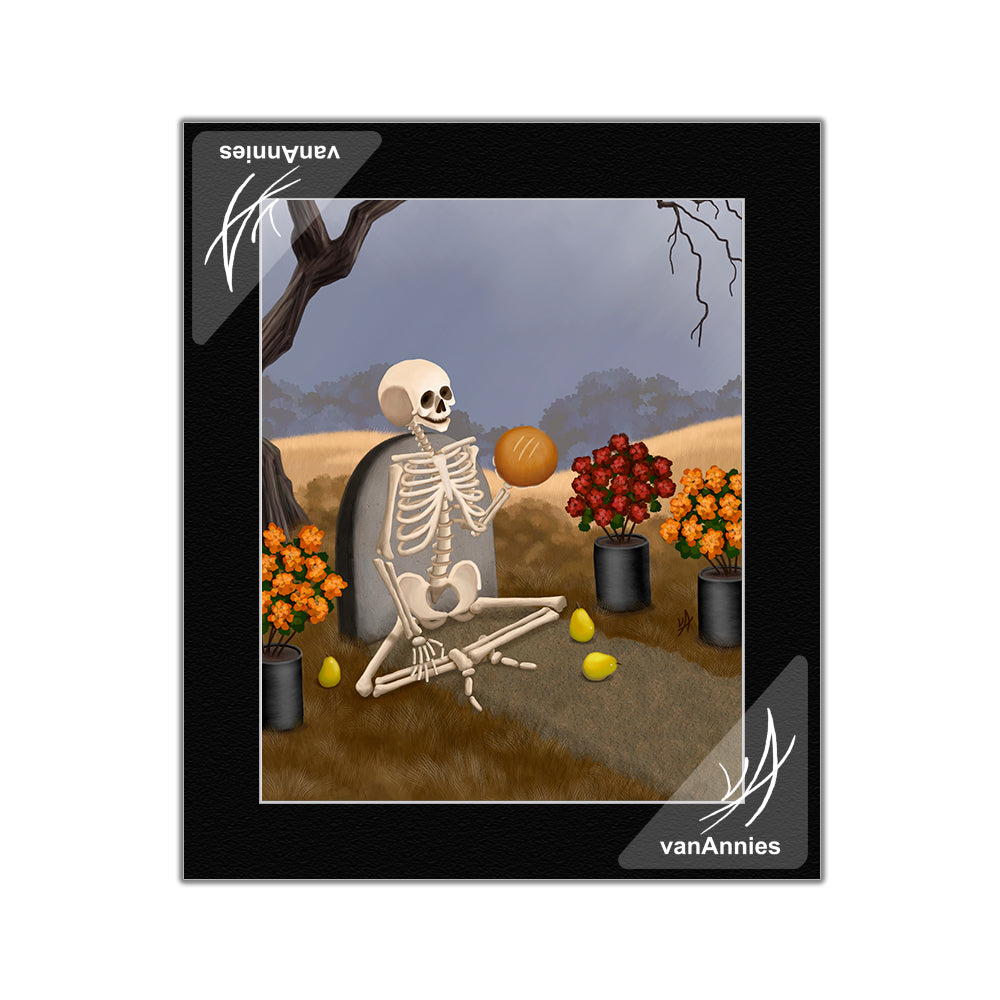 Pan de Muerto Bread of the Dead Matted Print