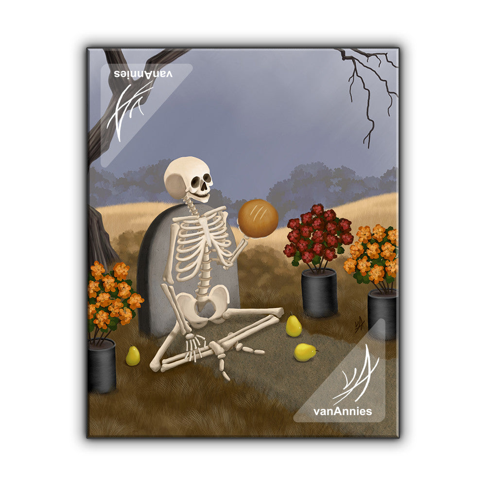 Pan de Muerto Bread of the Dead Wrapped Canvas Print